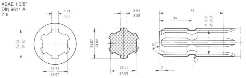 Tractor Supply Pto Shaft Extension : Spline pto shaft extension